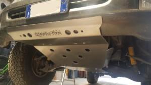 Piastra anteriore Land Cruiser hdj 100 alluminio 8 mm