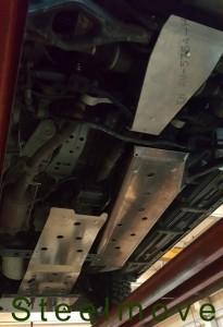 Piastra anteriore cambio riduttore differenziale alluminio 8 mm